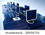 modern computers with lcd... | Shutterstock . vector #20936731