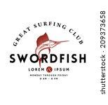 vintage swordfish emblem for... | Shutterstock .eps vector #209373658
