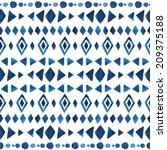 watercolor ethnic seamless... | Shutterstock .eps vector #209375188