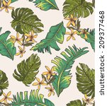 seamless leaves print pattern... | Shutterstock .eps vector #209377468