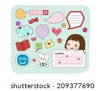 set of labels  stickers  speech ... | Shutterstock .eps vector #209377690