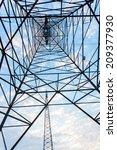 high voltage post.high voltage... | Shutterstock . vector #209377930