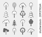 set of sixteen gray vector... | Shutterstock .eps vector #209378164