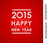 happy new year 2015 in square... | Shutterstock .eps vector #209383354