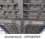 steel frame under the guard of... | Shutterstock . vector #209386969