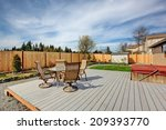 backyard walkout deck with... | Shutterstock . vector #209393770