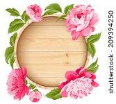 beautiful peonies on wood...   Shutterstock .eps vector #209394250