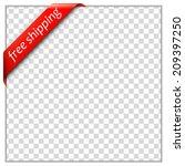 free shipping corner ribbon. ... | Shutterstock .eps vector #209397250