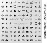 icon pack car information pictograms - stock vector