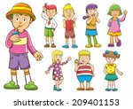 set of cartoon kids.eps10  file ... | Shutterstock .eps vector #209401153
