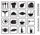 food icons set | Shutterstock .eps vector #209402488