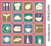 food icons set | Shutterstock .eps vector #209402494