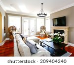 bright luxury living room with... | Shutterstock . vector #209404240