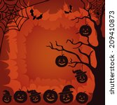 halloween cartoon landscape... | Shutterstock .eps vector #209410873