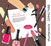 beauty make up fashion... | Shutterstock .eps vector #209417488