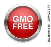 gmo free icon | Shutterstock . vector #209423179