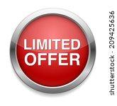 limited offer button | Shutterstock . vector #209425636