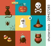 halloween holiday modern design ...   Shutterstock .eps vector #209427283