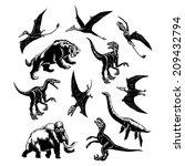 hand drawn  vector  sketch... | Shutterstock .eps vector #209432794