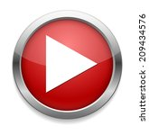 play button web icon | Shutterstock . vector #209434576