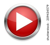 play button web icon | Shutterstock . vector #209434579