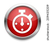 clock icon alarm  | Shutterstock . vector #209435209