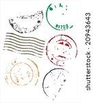 grunge style blank postmarks... | Shutterstock .eps vector #20943643