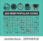 200 web  business  internet ... | Shutterstock .eps vector #209446918