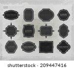 vector distressed frame set.... | Shutterstock .eps vector #209447416