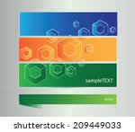 bright vector elements for... | Shutterstock .eps vector #209449033