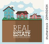 real estate design over... | Shutterstock .eps vector #209450434