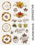 vector collection of autumn ... | Shutterstock .eps vector #209450749