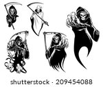 death skeleton characters with...