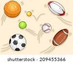 illustration featuring balls... | Shutterstock .eps vector #209455366