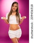 perfect body female in white... | Shutterstock . vector #209456518