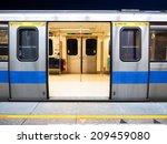 taipei mrt in night  | Shutterstock . vector #209459080
