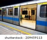 taipei mrt in night  | Shutterstock . vector #209459113