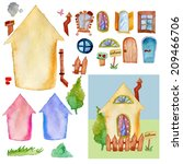 Watercolor House Constructor...