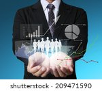 businessman with financial... | Shutterstock . vector #209471590