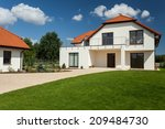 view of beautiful modern house... | Shutterstock . vector #209484730