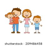 family design over white... | Shutterstock .eps vector #209486458
