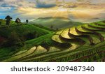 terraced rice field in... | Shutterstock . vector #209487340