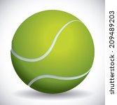 tennis design over gray... | Shutterstock .eps vector #209489203
