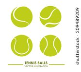 tennis design over white ... | Shutterstock .eps vector #209489209