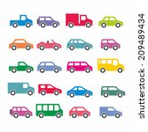 car icons | Shutterstock .eps vector #209489434