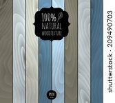 vector natural multicolor wood... | Shutterstock .eps vector #209490703