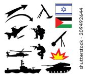 Israel Map With A Collection O...