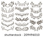 design hand drawn floral... | Shutterstock . vector #209496010