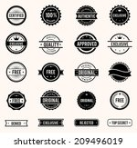 commercial stamps set in... | Shutterstock . vector #209496019