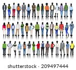 silhouette of business and... | Shutterstock .eps vector #209497444